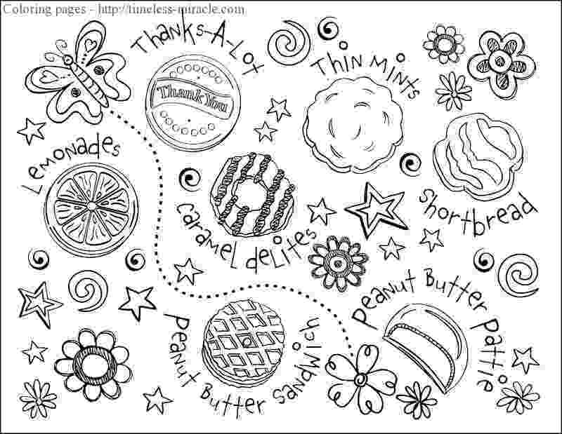 girl scout cookies coloring pages gs cookie coloring sheet girl scouts general girl scout girl pages coloring cookies