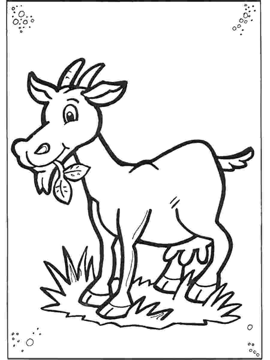 goat pictures to color free printable goat coloring pages for kids pictures to goat color