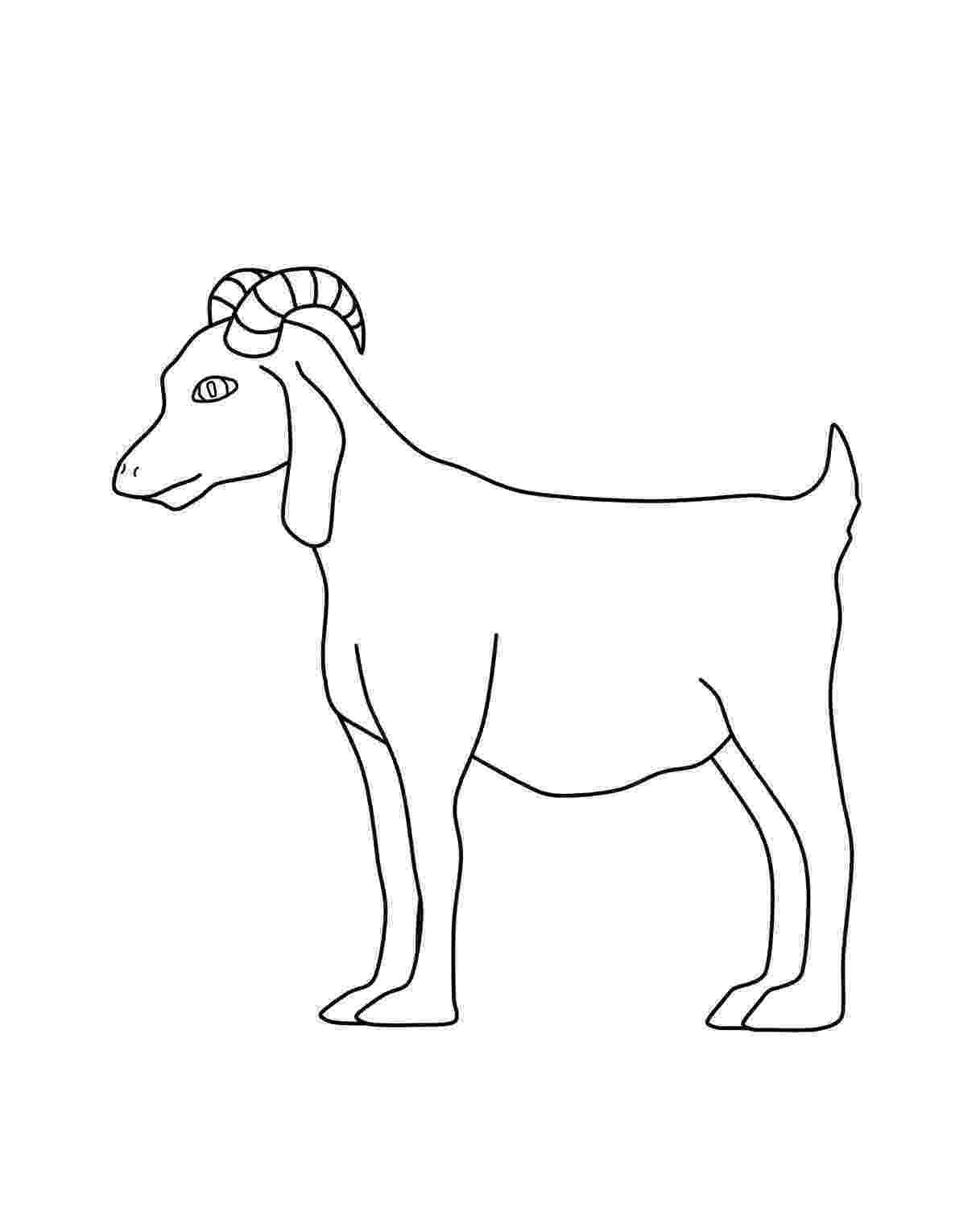 goat to color free printable goat coloring pages for kids goat color to
