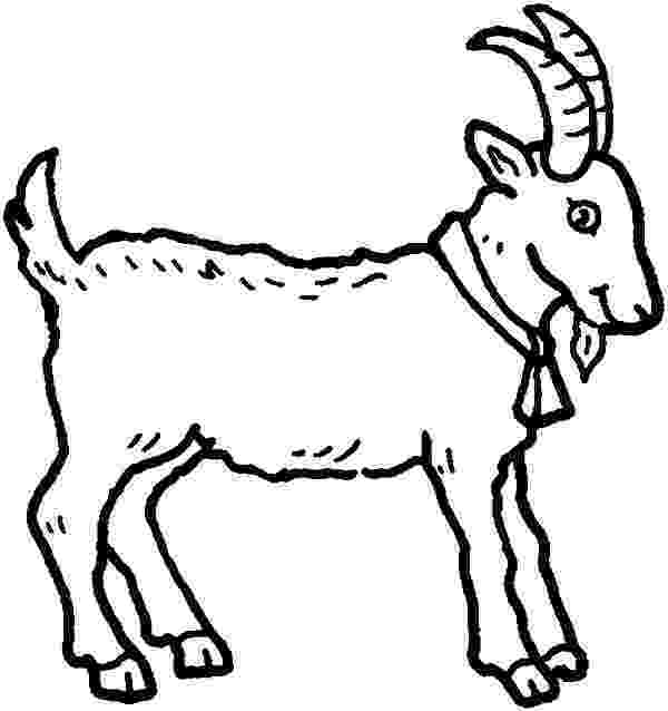 goat to color free printable goat coloring pages for kids goat to color 1 1