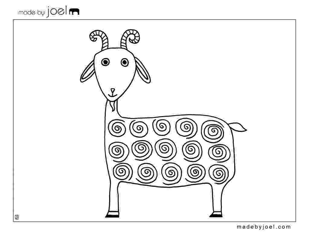 goat to color line drawing of a goat clipart best drawings animal to goat color