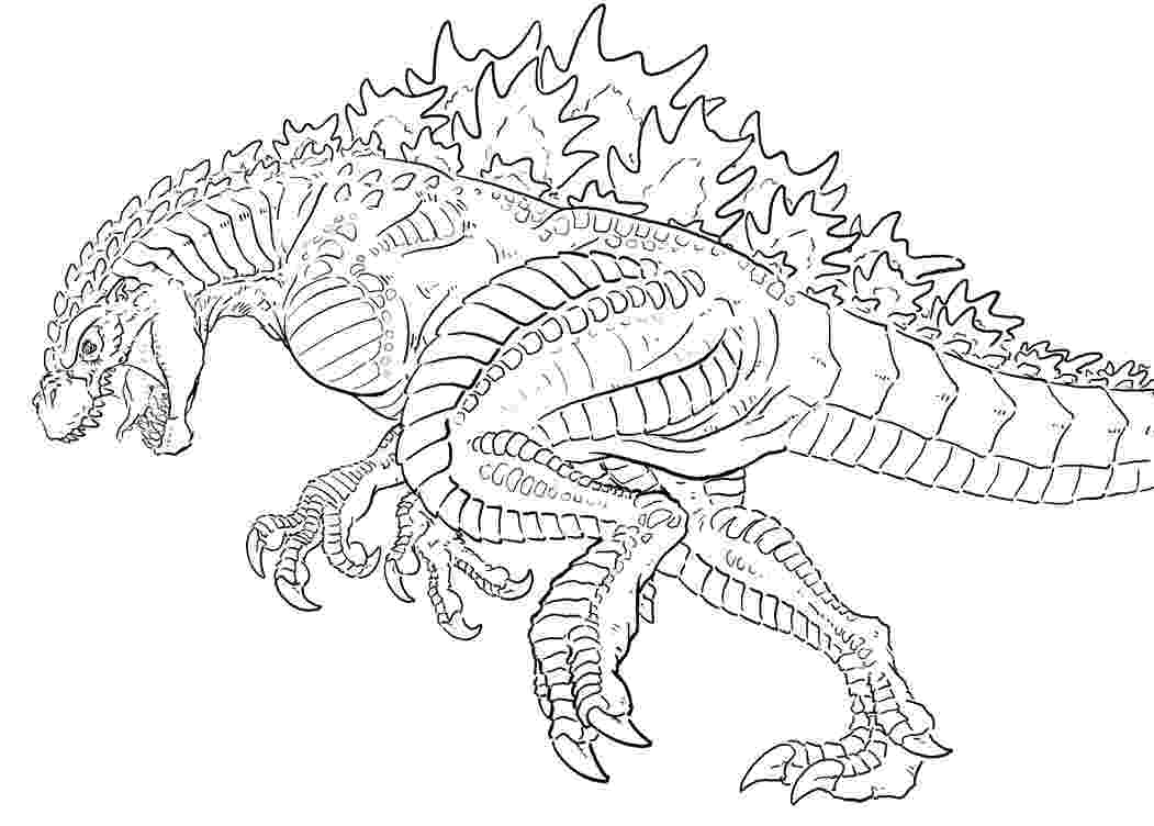 godzilla pictures to color godzilla coloring pages to print free loving printable godzilla to pictures color