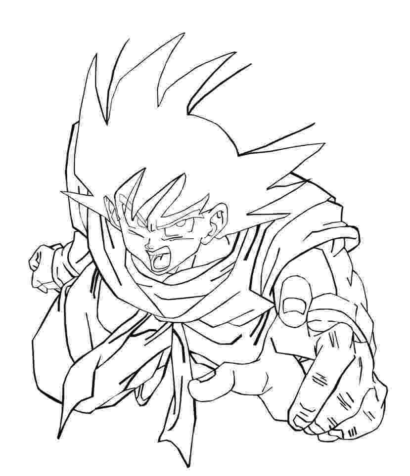 goku coloring page goku coloring pages to download and print for free coloring goku page 1 1