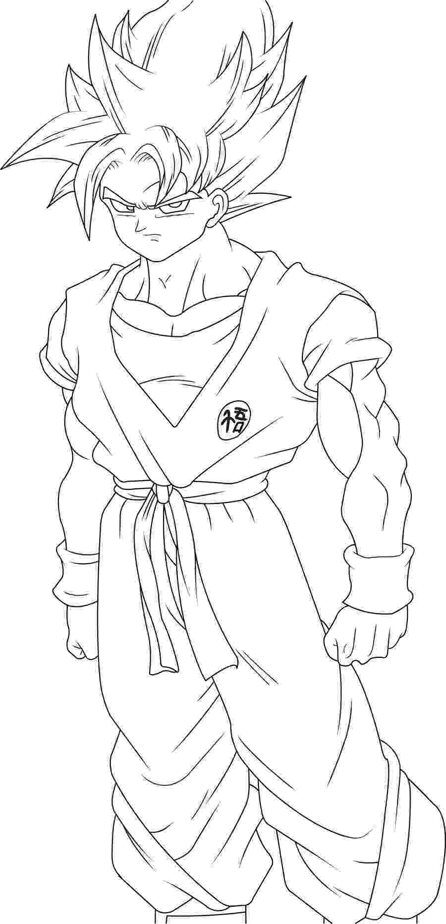 goku coloring page goku coloring pages to download and print for free page coloring goku