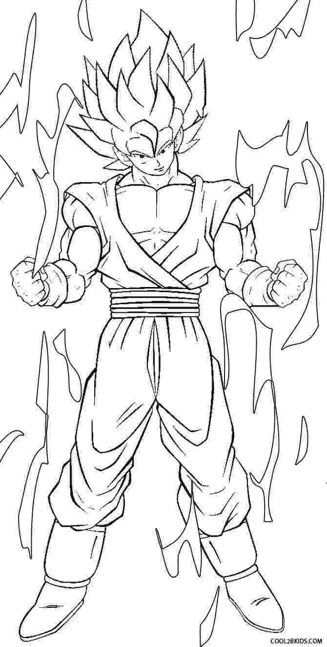 goku coloring page printable goku coloring pages for kids cool2bkids coloring goku page