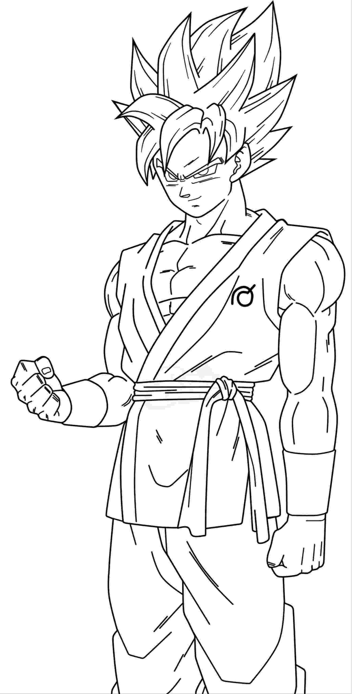 goku coloring page promising goku super saiyan 1 coloring pages of best page goku coloring
