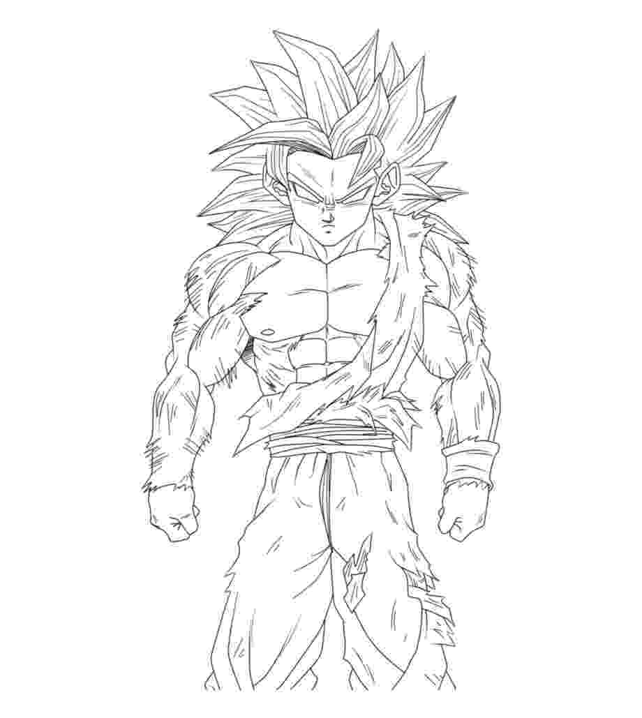 goku super saiyan coloring pages dragon ball z coloring pages goku super saiyan 4 with pages saiyan super goku coloring