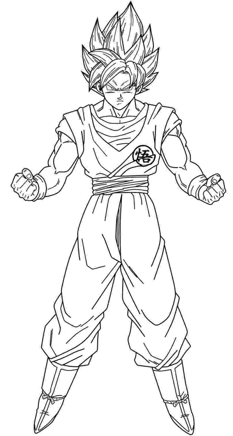 goku super saiyan coloring pages goku super saiyan drawing at getdrawingscom free for goku coloring super pages saiyan