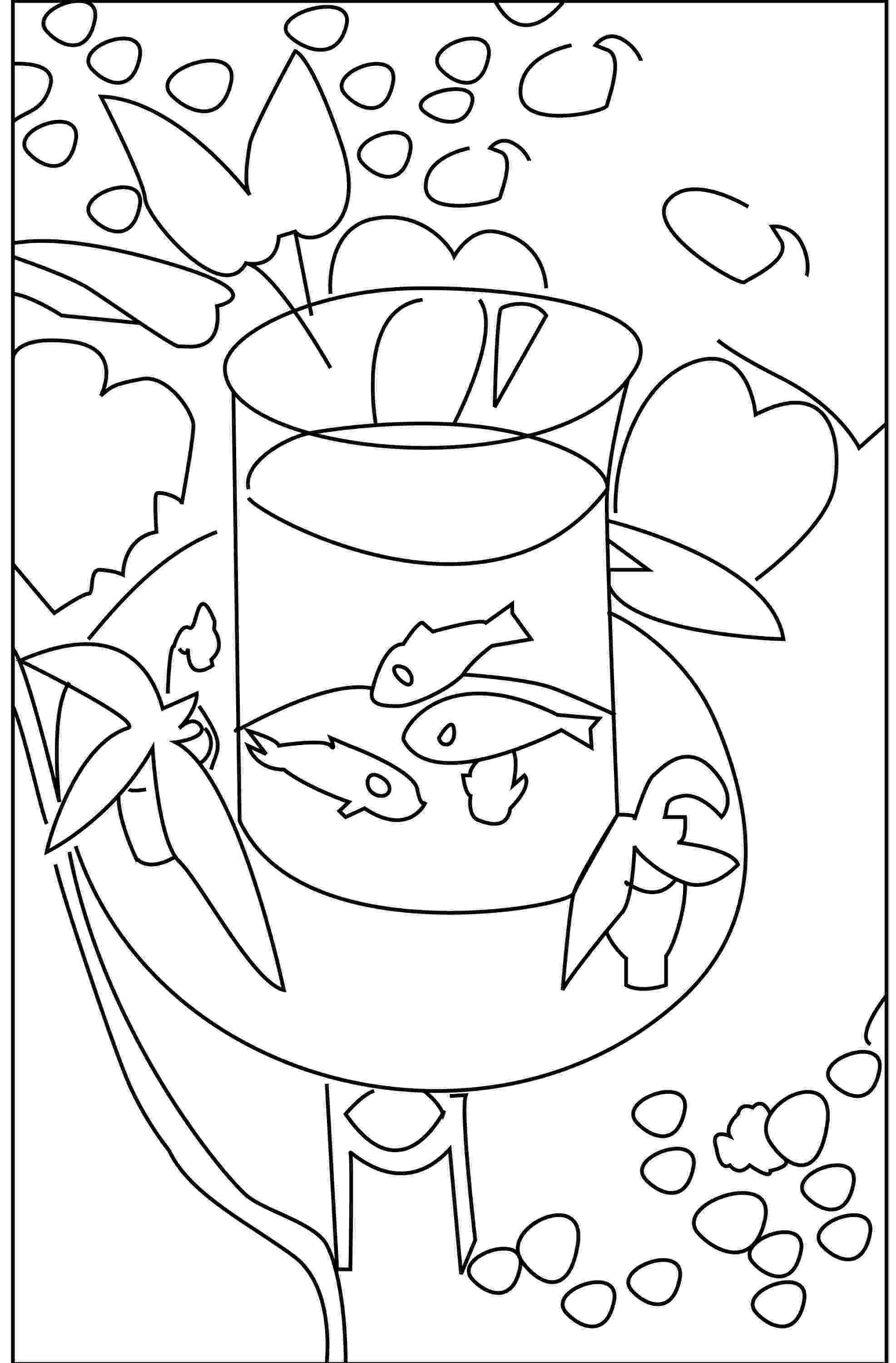 goldfish coloring page coloring book matisses gold fish neo decadent goldfish page coloring