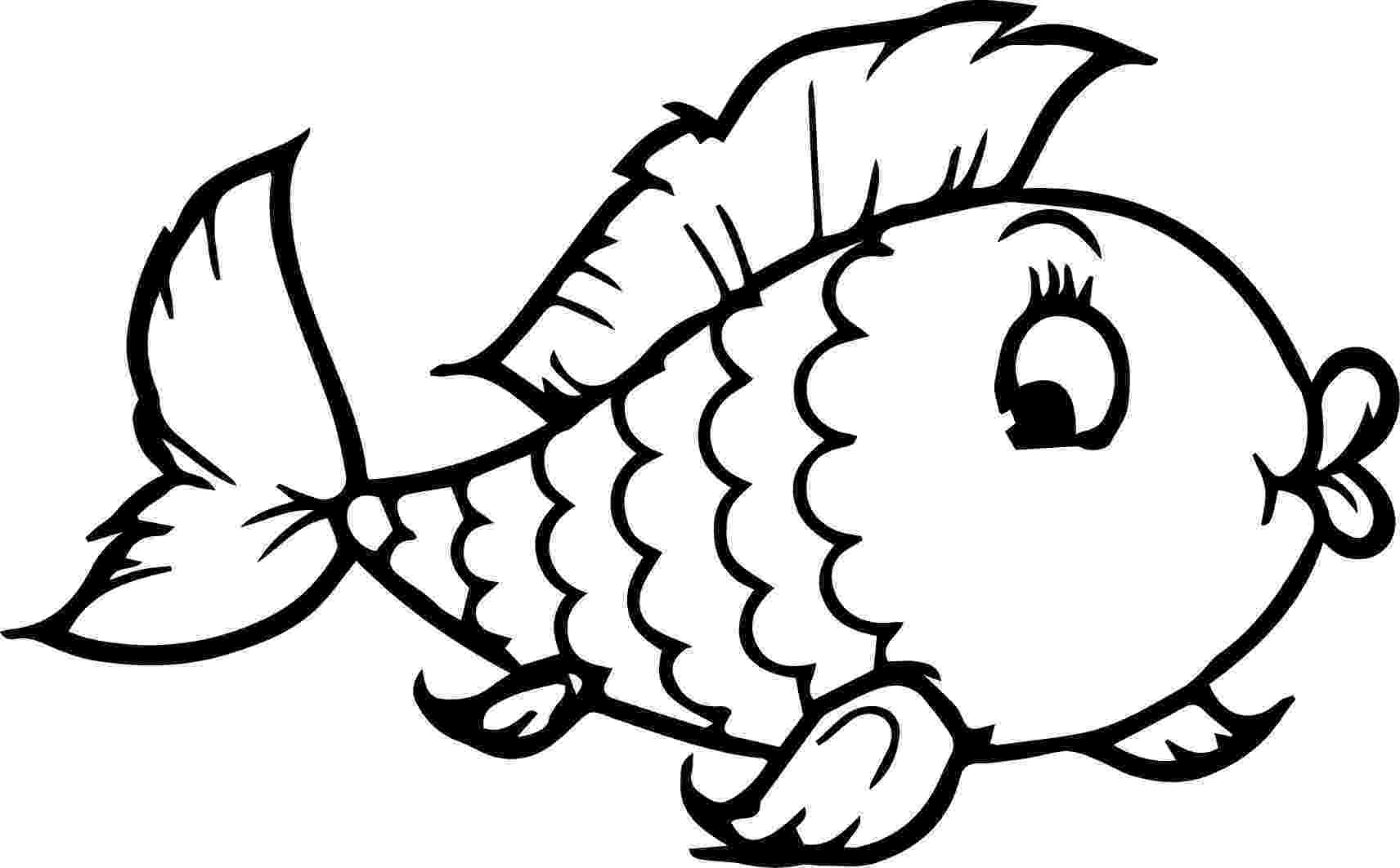 goldfish coloring page fish drawing images at getdrawingscom free for personal coloring page goldfish
