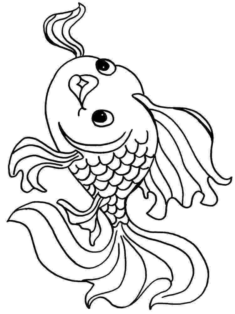 goldfish coloring page goldfish coloring pages download and print goldfish coloring page goldfish