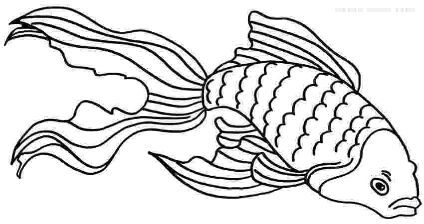 goldfish coloring page printable goldfish coloring pages for kids cool2bkids page coloring goldfish 1 3