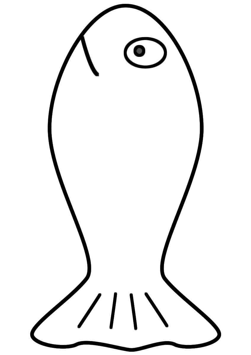goldfish coloring page simple fish coloring pages download and print for free goldfish coloring page