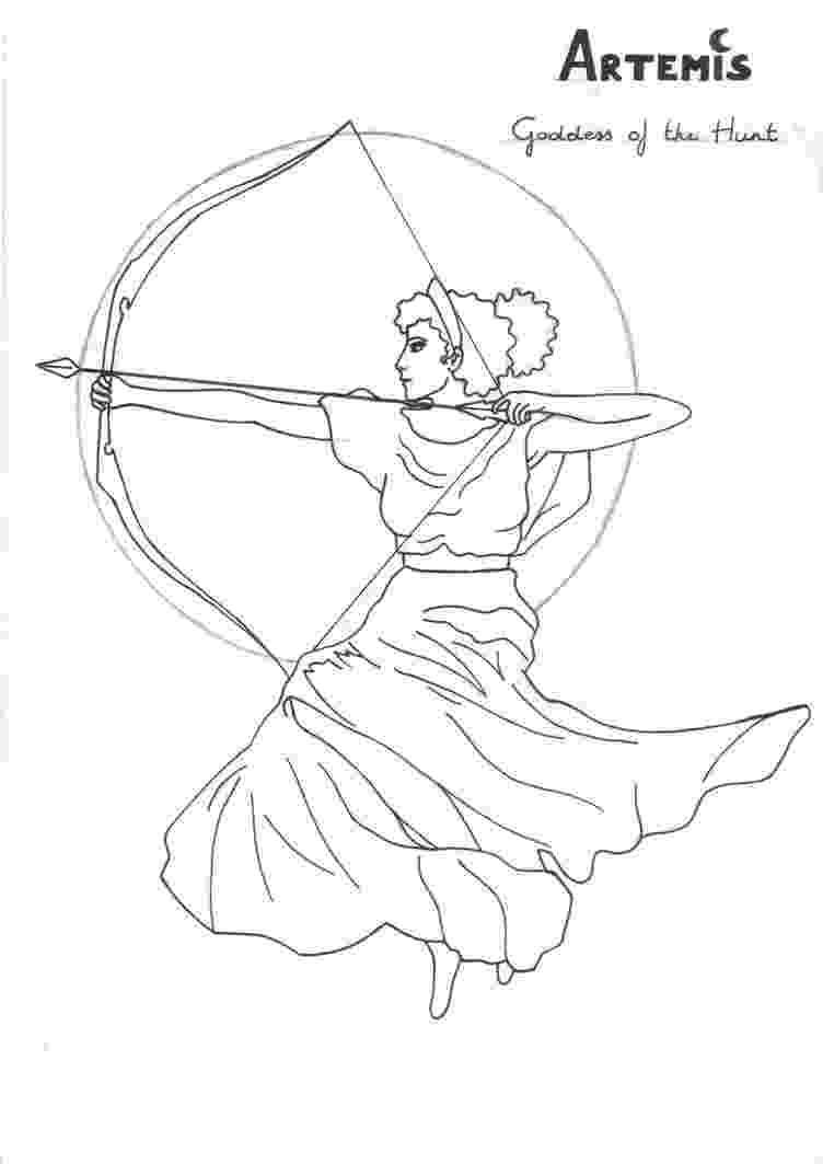 greek god coloring pages artemis coloring page greek god mythology unit study by god coloring pages greek