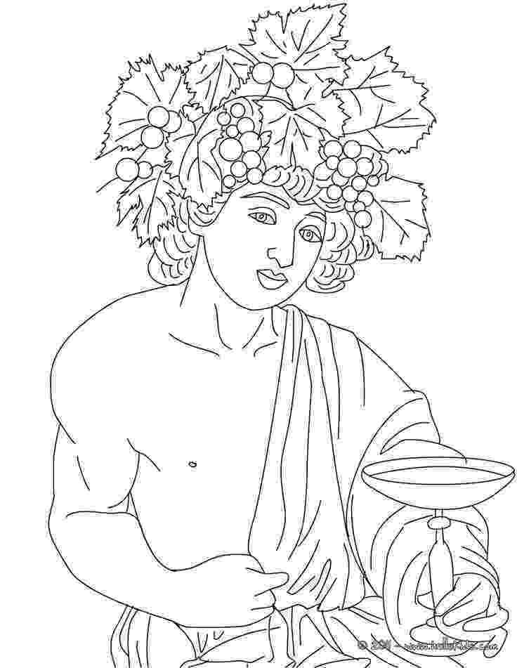 greek god coloring pages dionysus greek goddess gods coloring page coloring greek coloring god pages