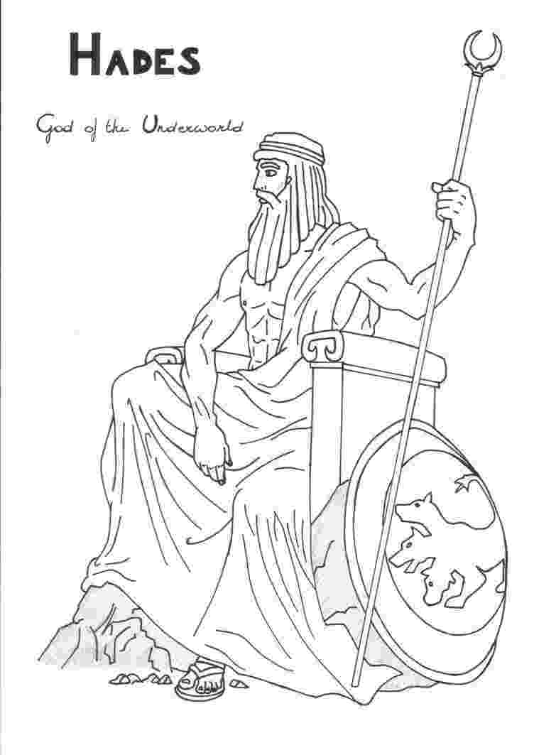 greek god coloring pages hades coloring page greek god mythology unit study by coloring greek god pages
