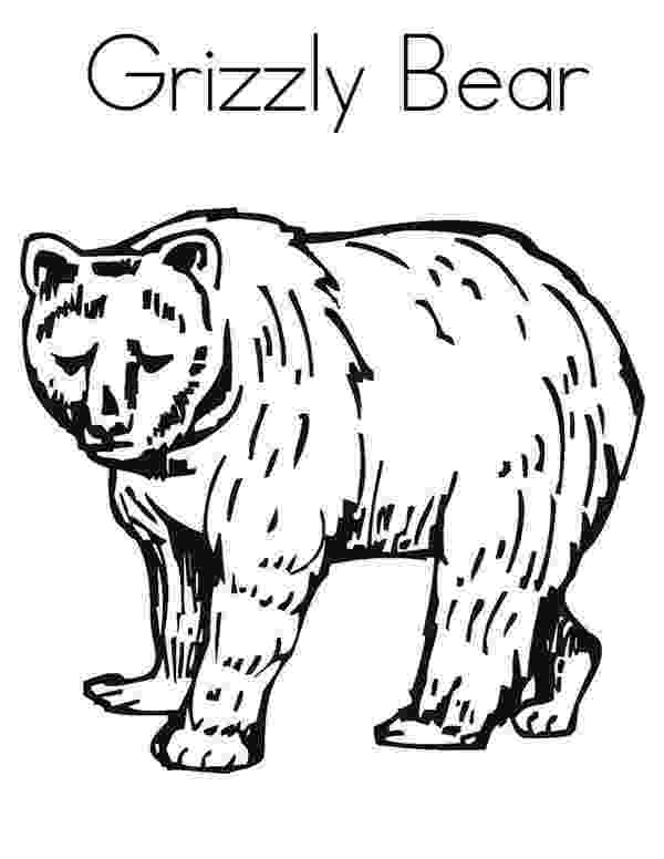 grizzly bear coloring pictures enormous grizzly bear coloring page netart pictures bear grizzly coloring