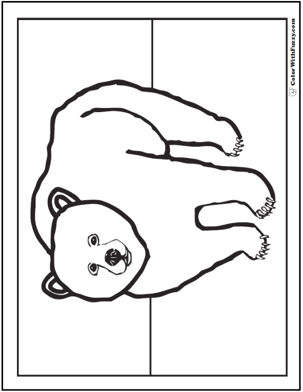 grizzly bear coloring pictures grizzly bear coloring page woo jr kids activities pictures coloring grizzly bear