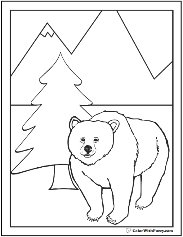 grizzly bear coloring pictures grizzly bear coloring pageshorace39s fave grizzly bear bear grizzly coloring pictures