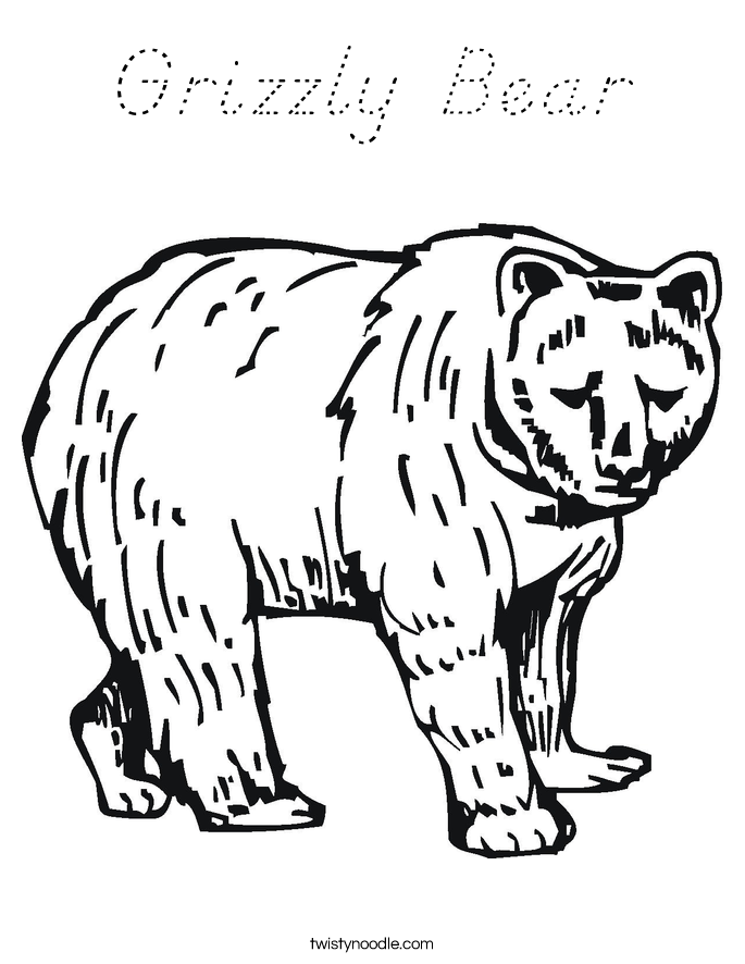 grizzly bear coloring pictures grizzly bear family coloring page free printable coloring pictures grizzly bear