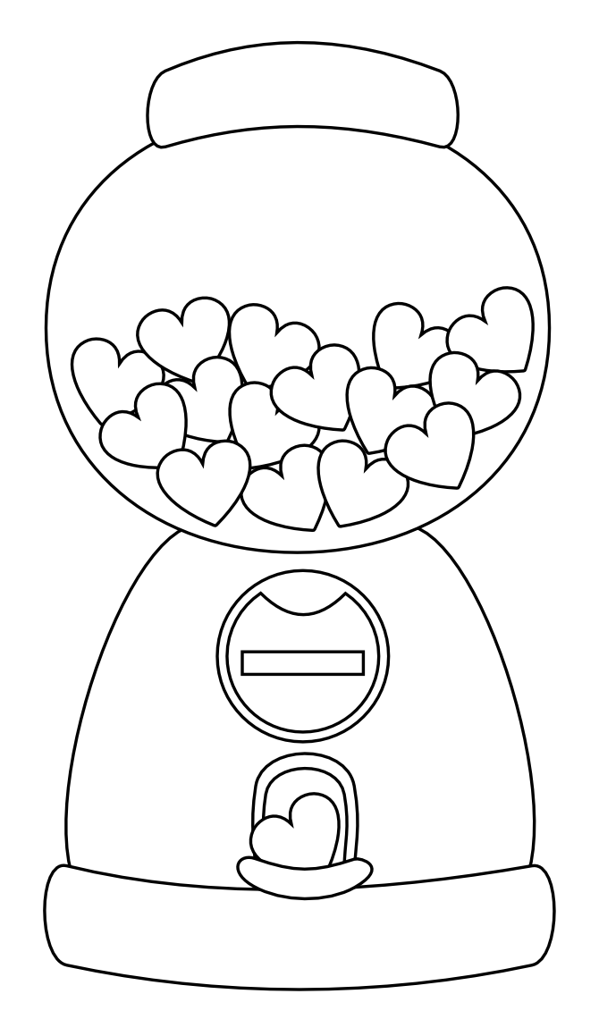 gumball machine coloring page color the gumball machine gumball machine gumball gumball machine page coloring