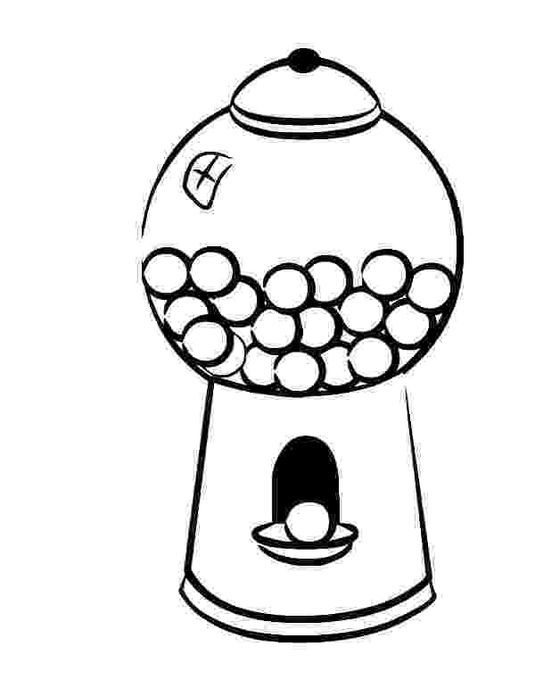 gumball machine coloring page gumball machine drawing at getdrawingscom free for machine gumball page coloring
