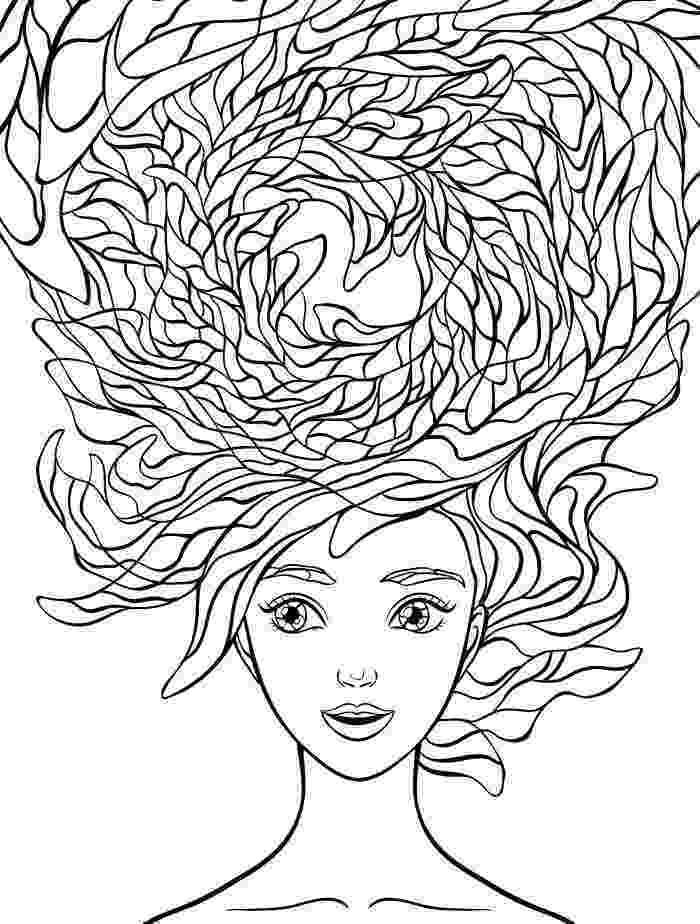 hair coloring pages 10 crazy hair adult coloring pages page 2 of 12 adult pages hair coloring