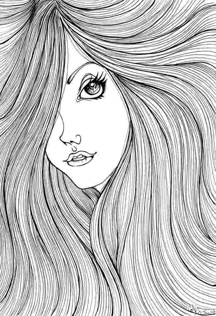 hair coloring pages curly hair coloring pages at getcoloringscom free coloring hair pages