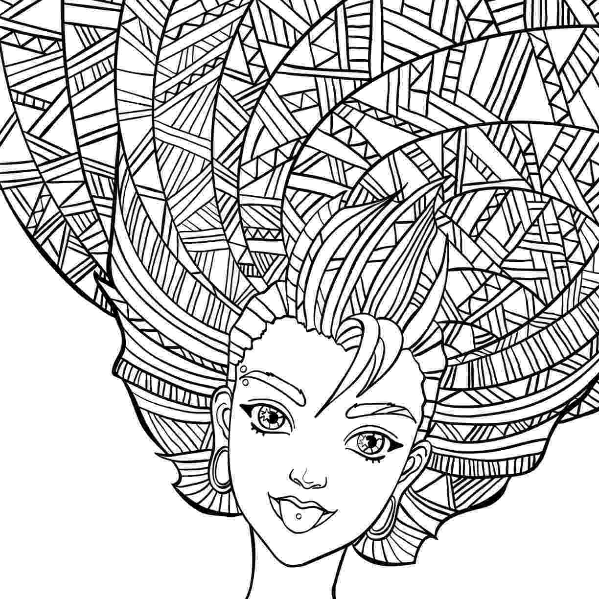 hair coloring pages curly hair coloring pages at getcoloringscom free coloring pages hair