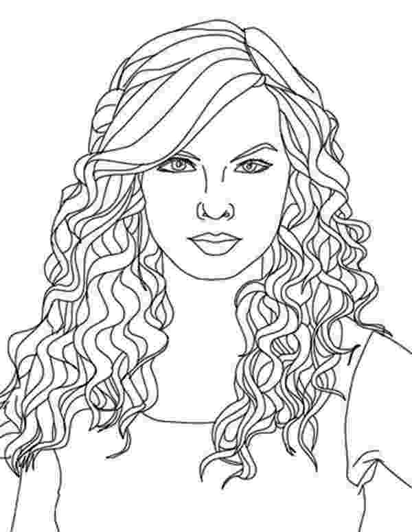 hair coloring pages image of a girl with a floral wreath in her hair coloring hair pages coloring