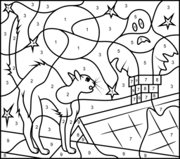 halloween color by number pages all holiday coloring pages color by pages halloween number