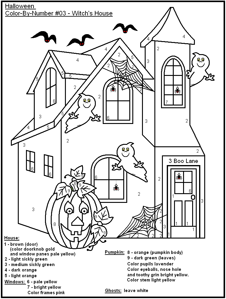 halloween color by number pages color by number coloring pages number pages color halloween by