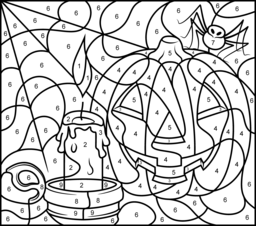 halloween color by number pages free halloween coloring pages april golightly by pages number halloween color