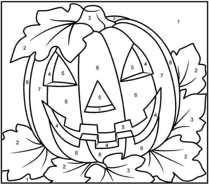halloween color by number pages halloween cat coloring page printables apps for kids pages halloween by number color