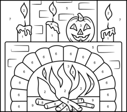 halloween color by number pages halloween color by number freebie by kindergarten kel tpt number by color halloween pages