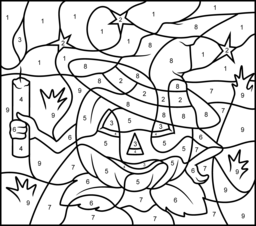 halloween color by number pages halloween coloring online pages color by number halloween