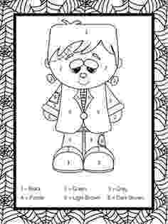 halloween color by number pages halloween coloring pages by color pages number halloween