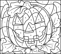 halloween color by number pages halloween coloring pages by pages halloween number color