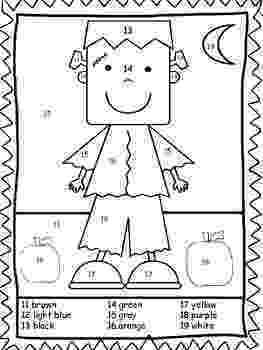 halloween color by number pages halloween coloring pages for kids pages number halloween by color