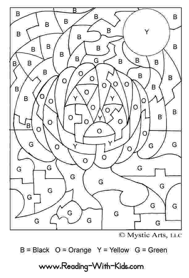 halloween color by number pages halloween coloring pages halloween number by pages color