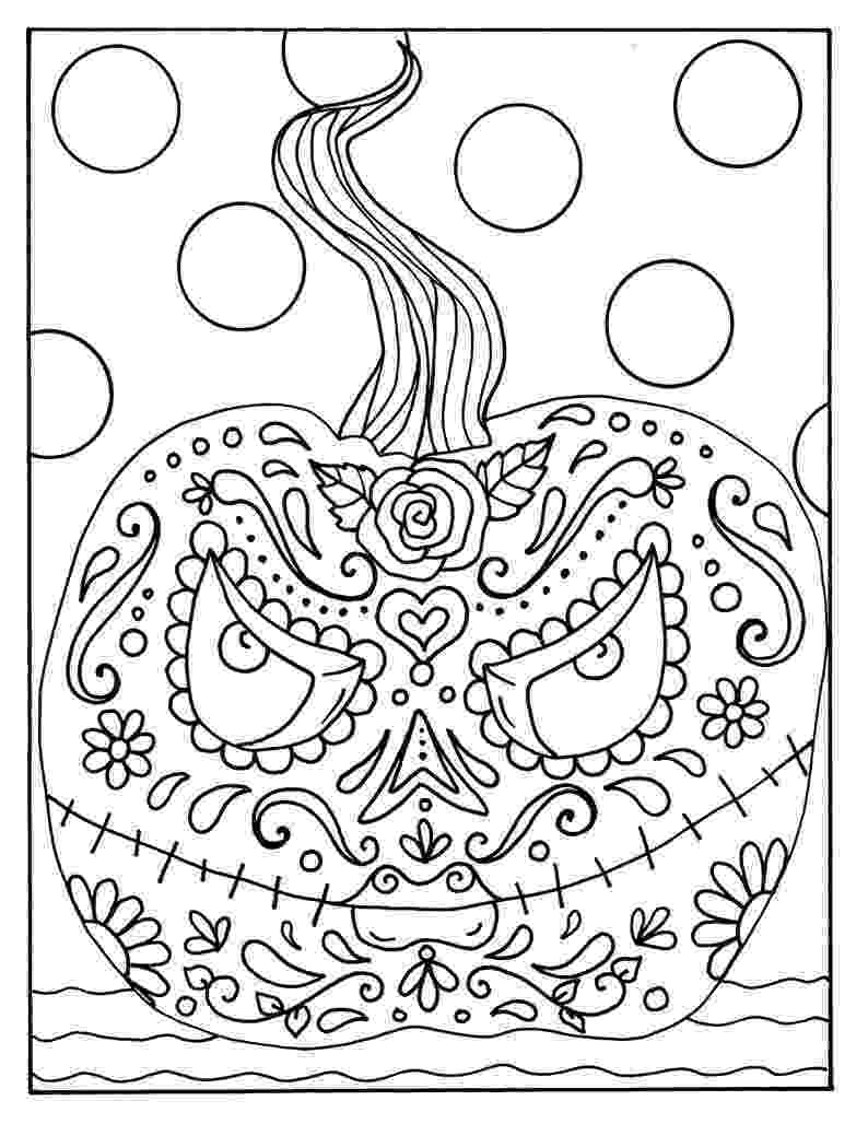 halloween pumpkin coloring pages day of the dead halloween pumpkin digital coloring page etsy pumpkin halloween pages coloring