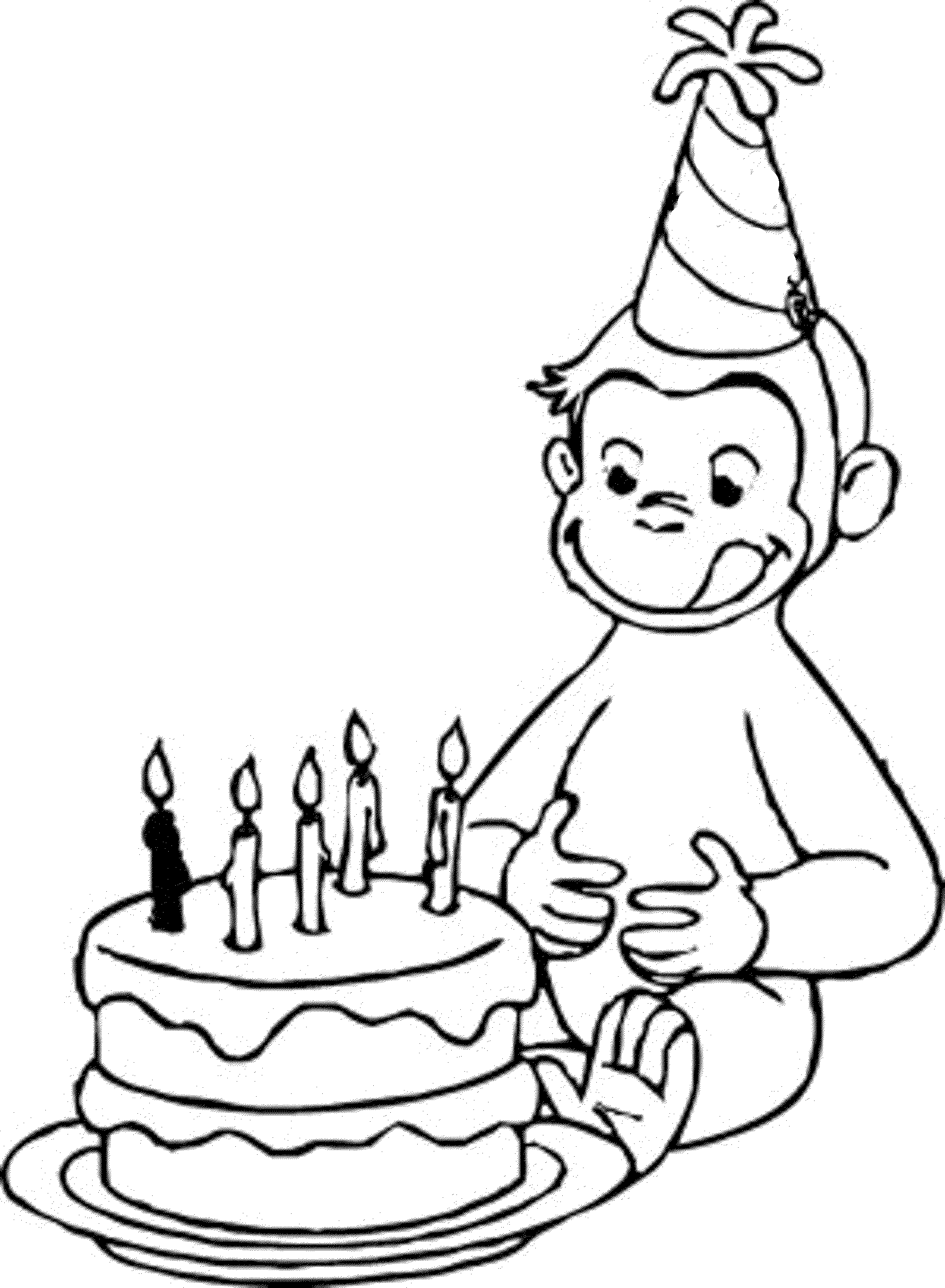 happy birthday coloring pages birthday cake coloring pages to download and print for free pages happy birthday coloring