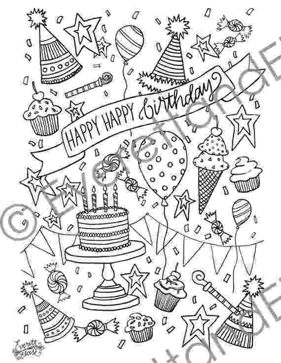 happy birthday coloring pages digital download happy happy birthday coloring happy pages birthday coloring