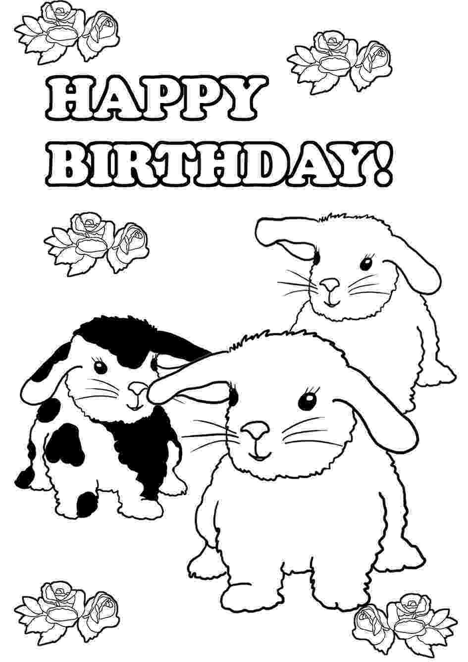 happy birthday coloring pages printable birthday coloring pages birthday happy pages coloring printable