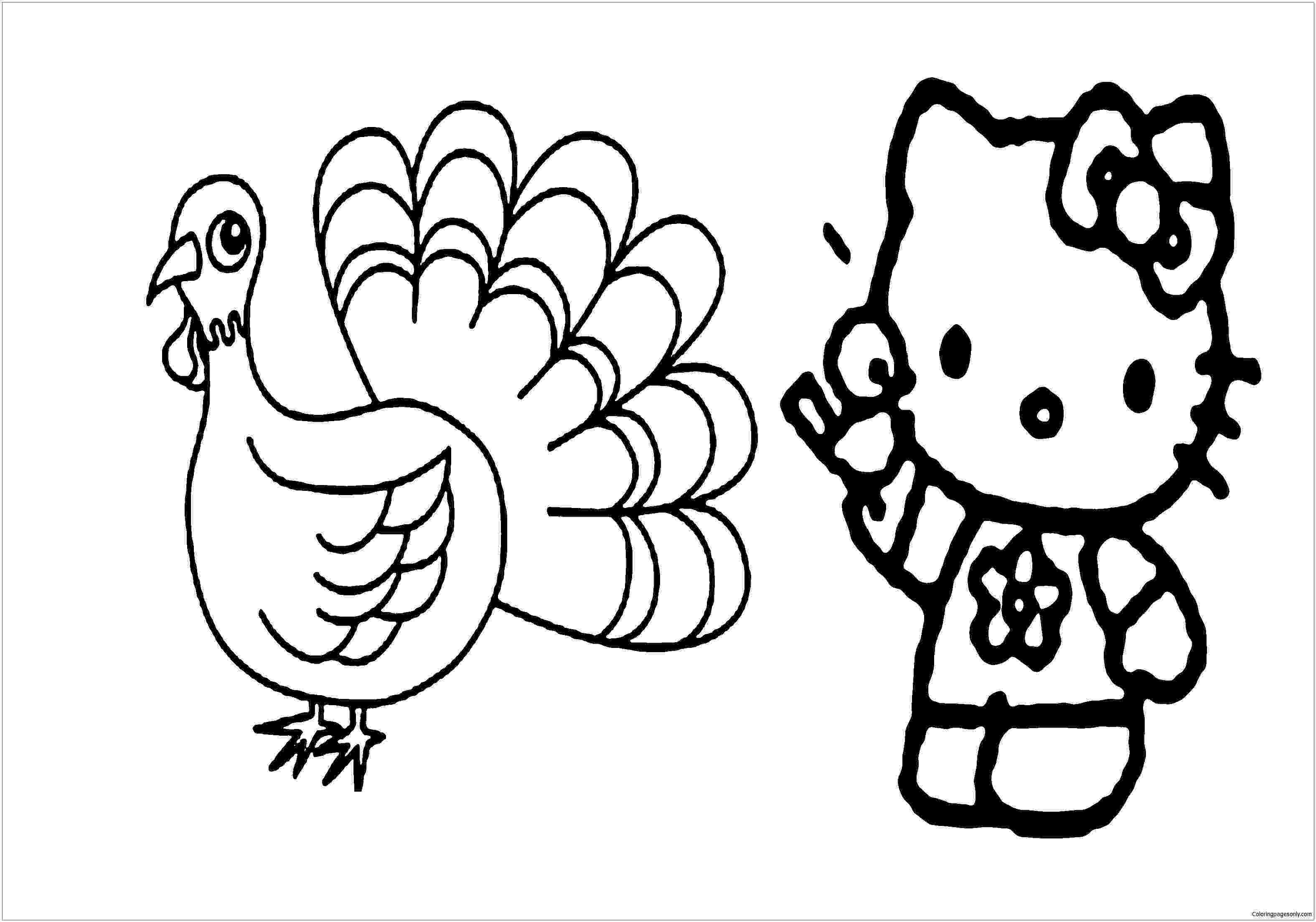 happy thanksgiving hello kitty hello kitty happy thanksgiving coloring page free thanksgiving kitty hello happy