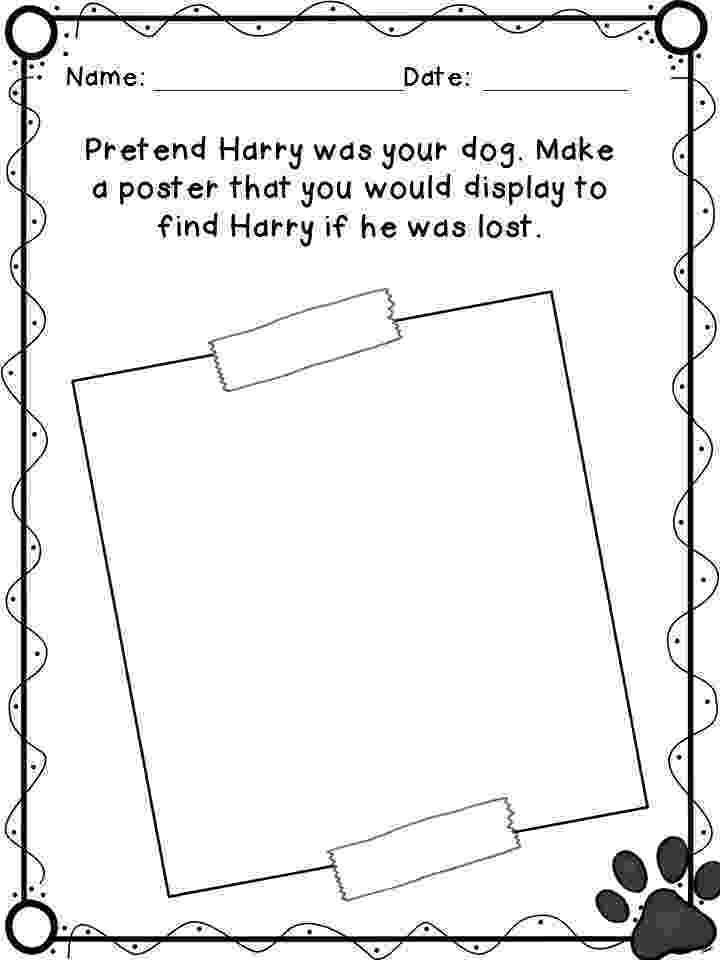 harry the dirty dog craft harry the dog clean and dirty coloring page kindergarten craft dog the harry dirty