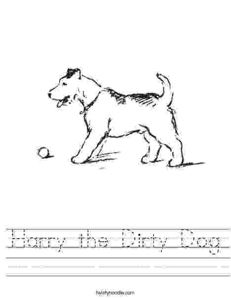 harry the dirty dog craft harry the dog clean and dirty coloring page kindergarten dirty craft dog harry the
