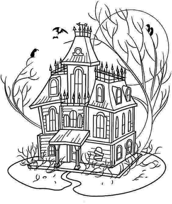 haunted house coloring pages halloween coloring pages make and takes pages haunted coloring house