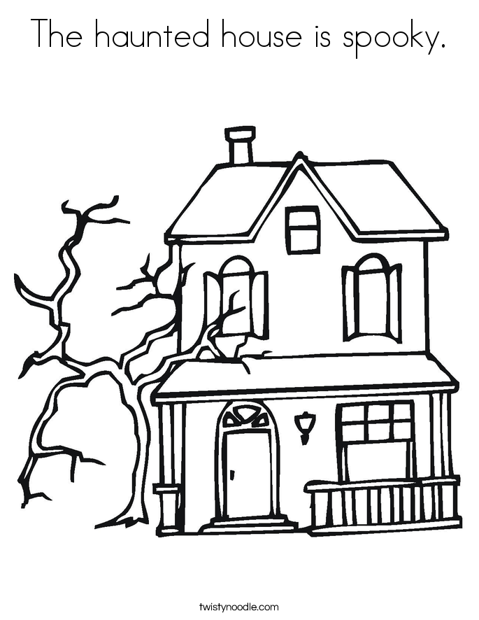 haunted house coloring pages scary haunted house coloring page free printable pages haunted house coloring
