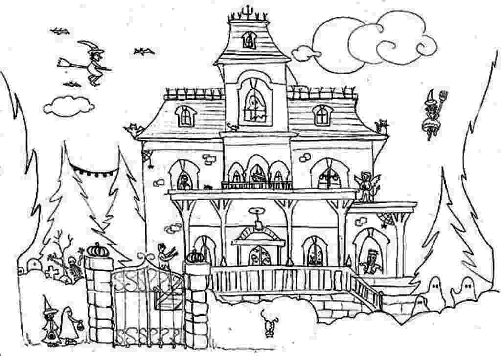 haunted house coloring pages top 25 free printable haunted house coloring pages online pages house coloring haunted